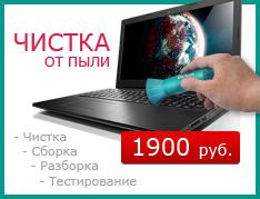 Чистка ноутбука под ключ